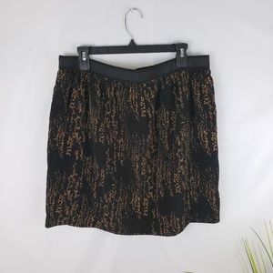 Gap Black and Bronze Mini-Skirt Size 8